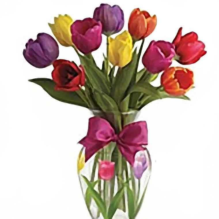 arreglo floral de tulipanes de florerias en el df